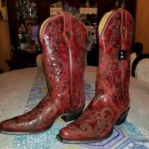 Beautiful Sterling River Cowboy Boots Women's Red